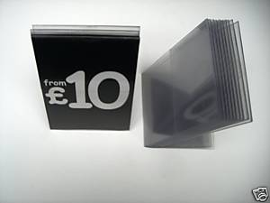 10 x A6 Slanted Stand Up Plastic