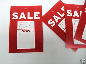 Sale was/now Swing Tickets Pack of 400. 60mm x 90mm